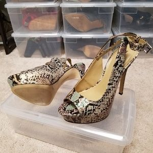 BCBG Peep Toe Pump